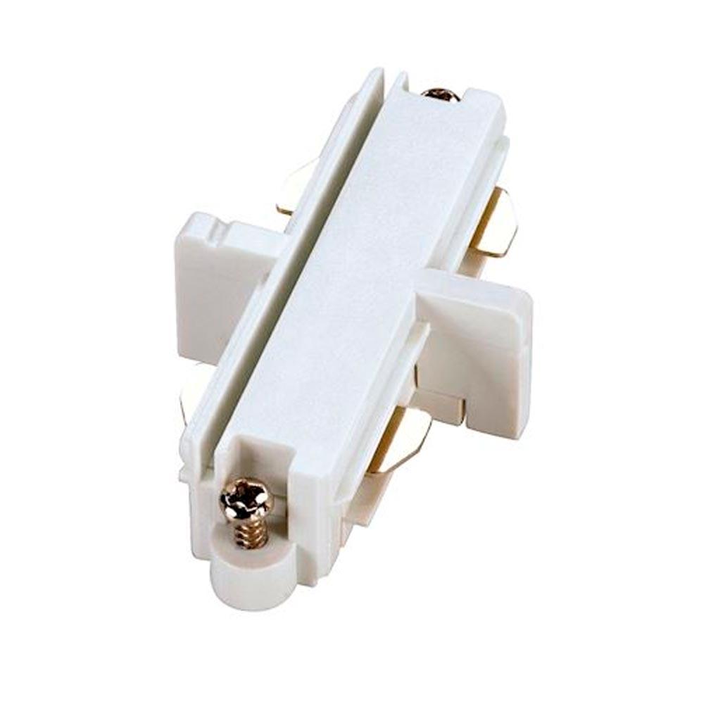Slv - DC5143091 - SLV 143091 -  Connecteur droit pour rail 1 allumage 16A max, blanc, électrique