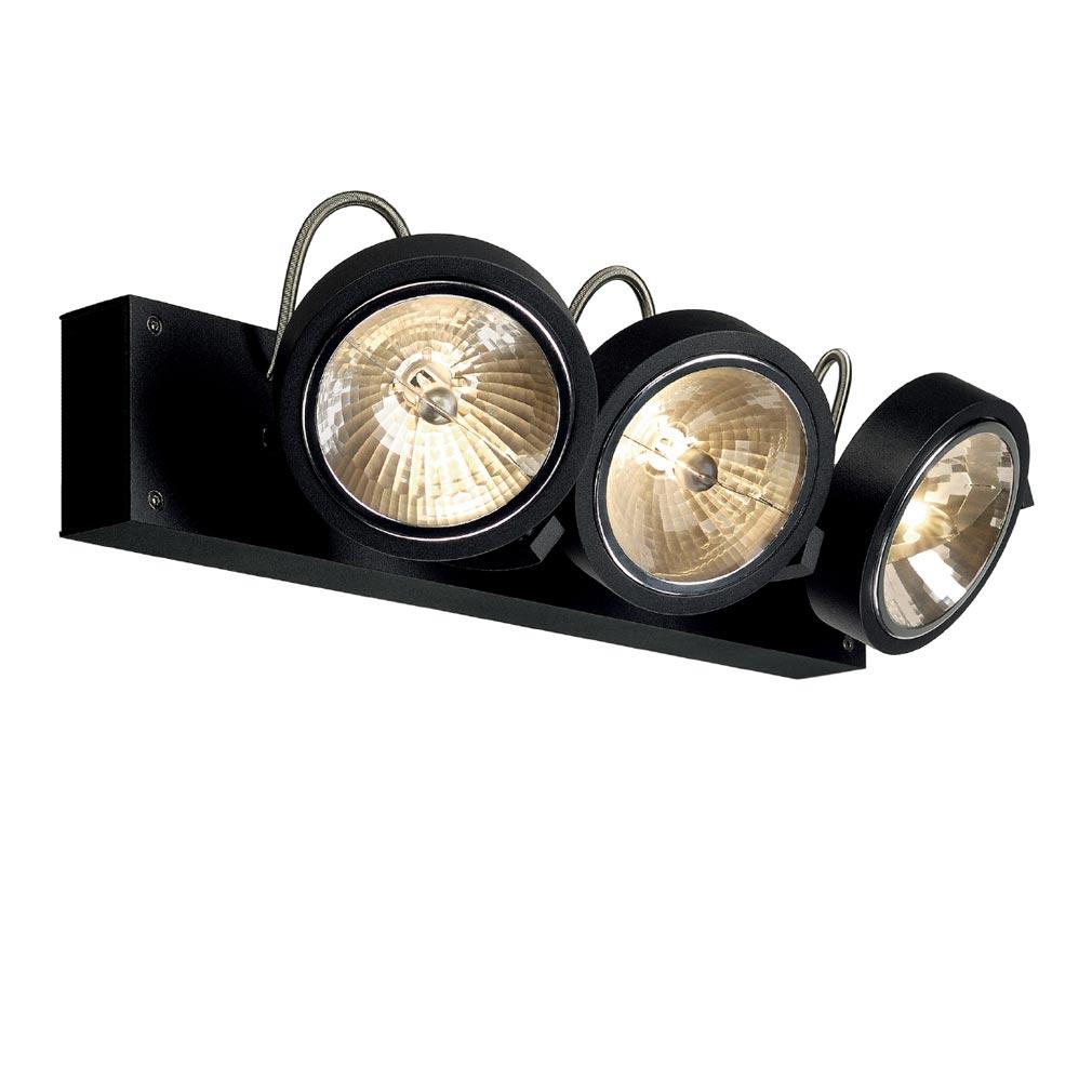 Slv Spot Salle De Bain ~ slv 147270 kalu 3 spots qrb111 applique et plafonnier noir mat