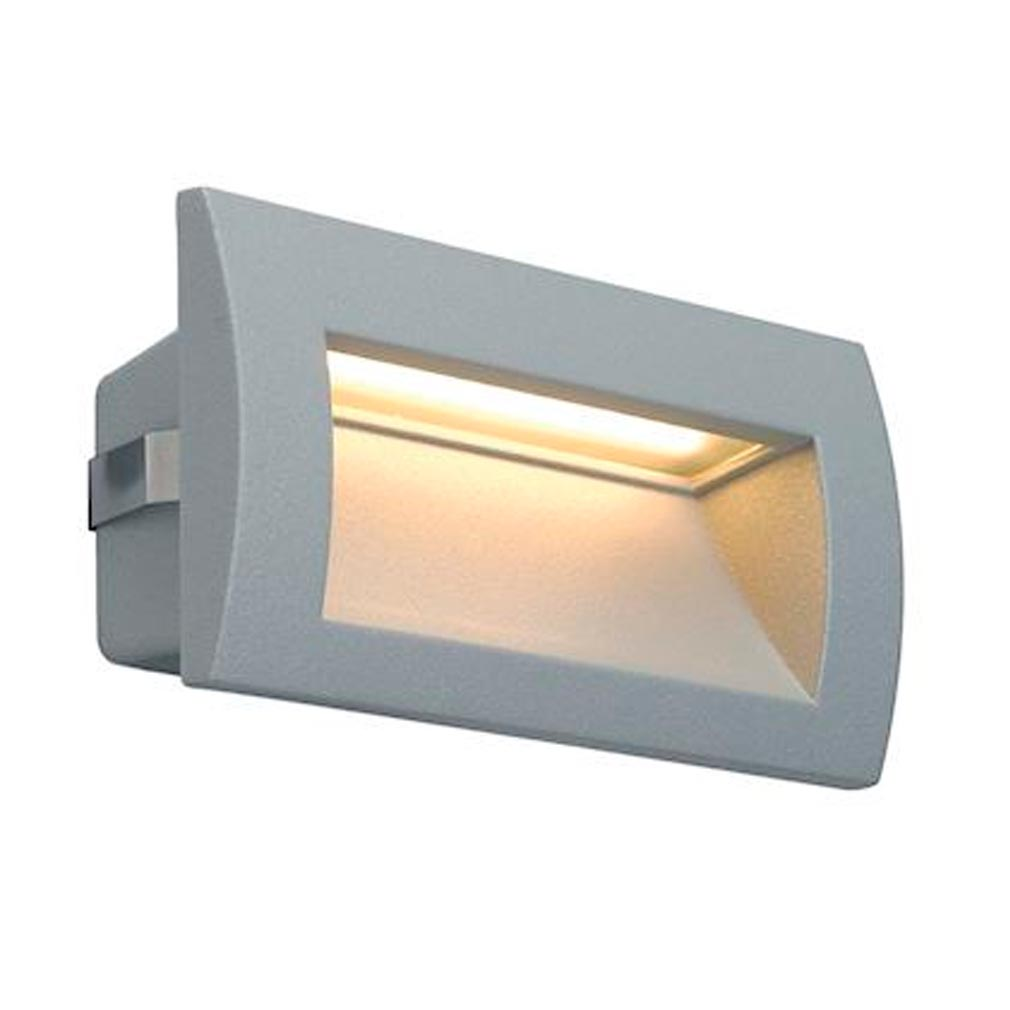 Slv - DC5233624 - SLV 233624 -  DOWNUNDER OUT LED M, ENCASTRE MURAL GRIS ARGENT, LED 0.96W 3
