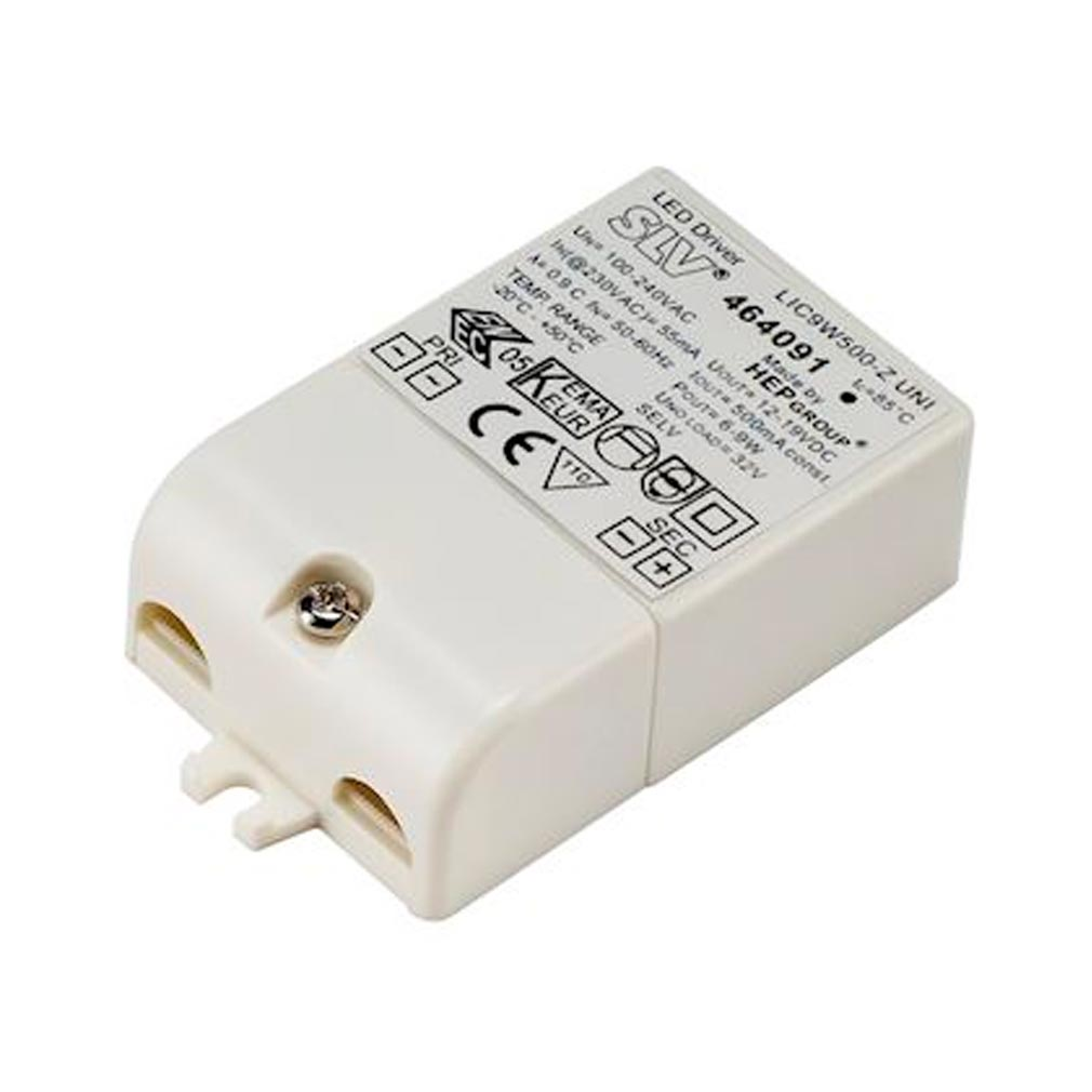 Slv - DC5464091 - SLV 464091 -  ALIMENTATION LED, 9VA, 500MA, SERRE-CABLE INCLUS