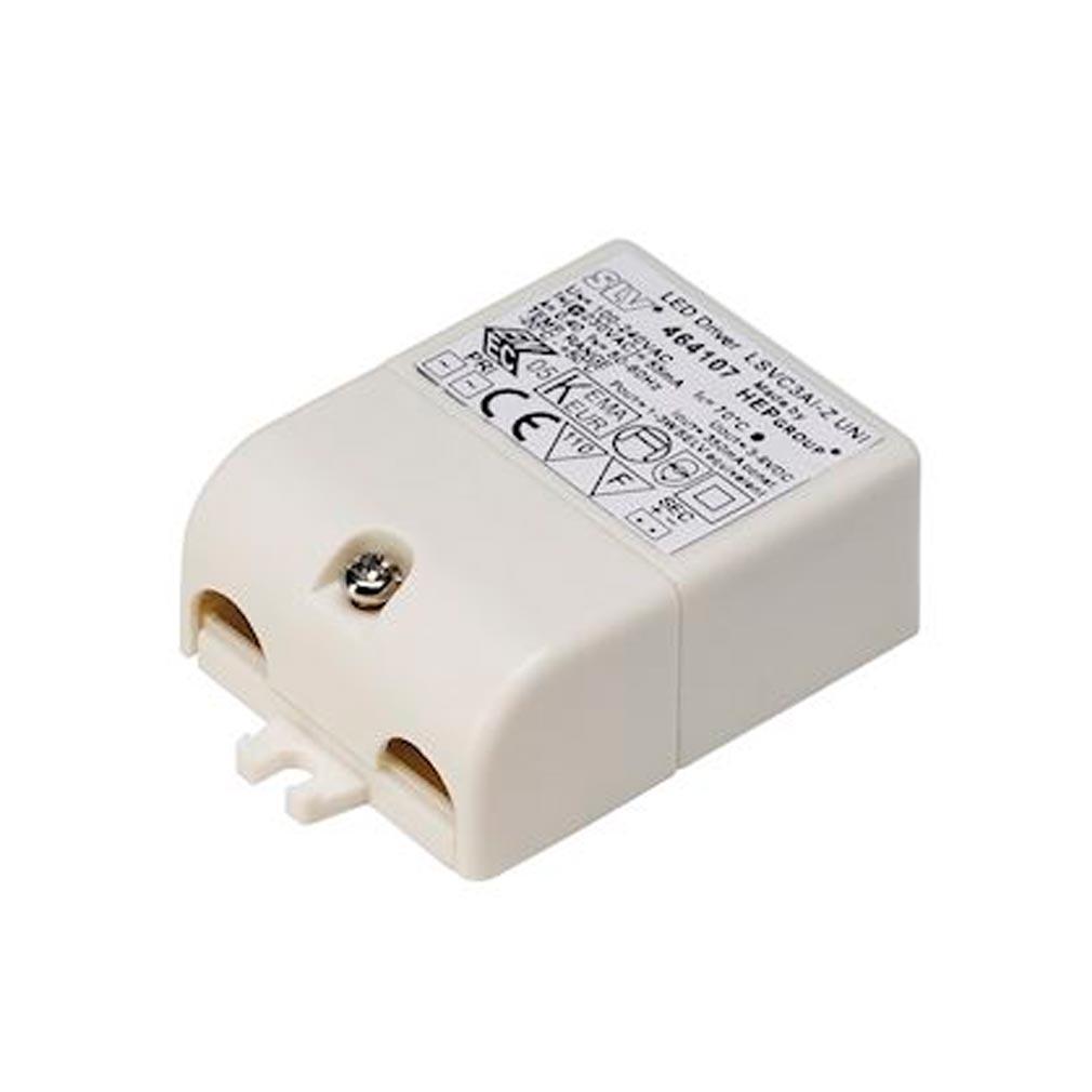 Slv - DC5464107 - SLV 464107 -  ALIMENTATION LED, 3VA, 350MA, FICHE ET SERRE-CABLE INCLUS