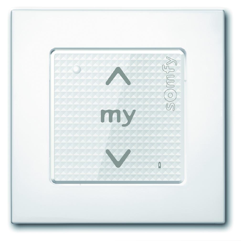 Somfy - SYF1800327 - COMMANDE SMOOVE SENSITIF RTS blanc laqué