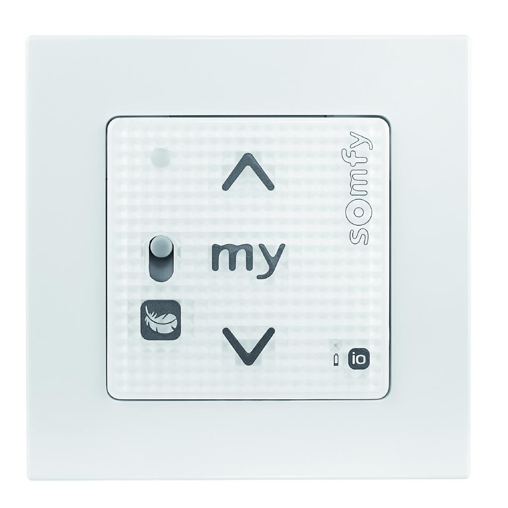 Somfy - SYF1811321 - SMOOVE RS100 io BLANC + CADRE