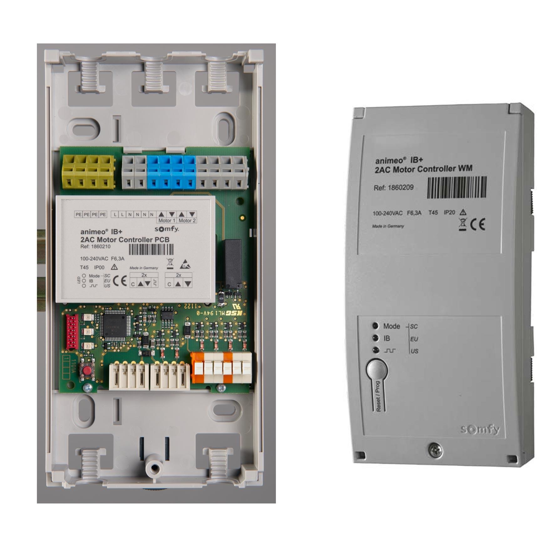 Somfy - SYF1860209 - MOTEUR CONTROLLER 2 AC IB/IB+ WM