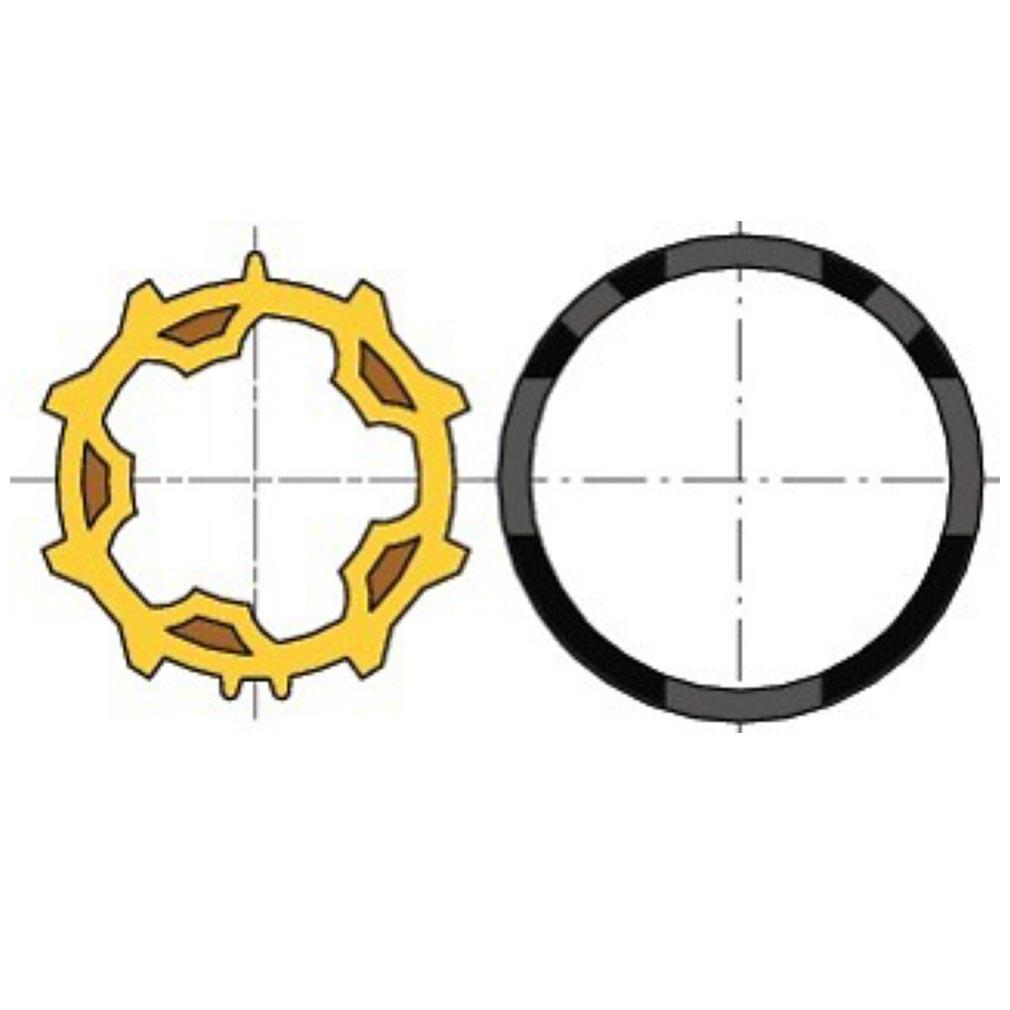 Somfy - SYF9001465 - ROUE + COURONNE MOTEUR DIAM.50 - TUBE ZF54 (à l'unité)