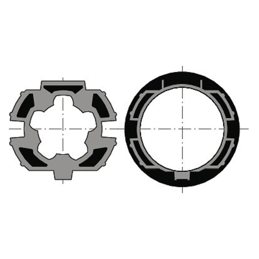 Somfy - SYF9410400 - ROUE + COURONNE MOTEUR DIAM.50 - ZF64 RECENTRE (à l'unité)