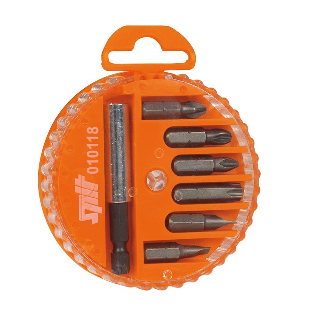 Spit - SPT010118 - Boîtier de vissage avec 6 embouts et porte-embout