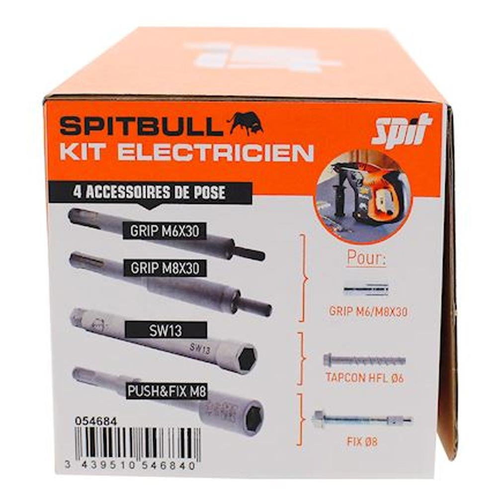 Spit - SPT054684 - SPIT 054684 - KIT accessoires SPITBULL électricien