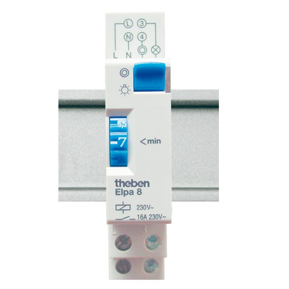 Theben - THB0080804 - MINUTERIE ELECTROMECANIQUE 1 A 7 MN ELPA 8 4