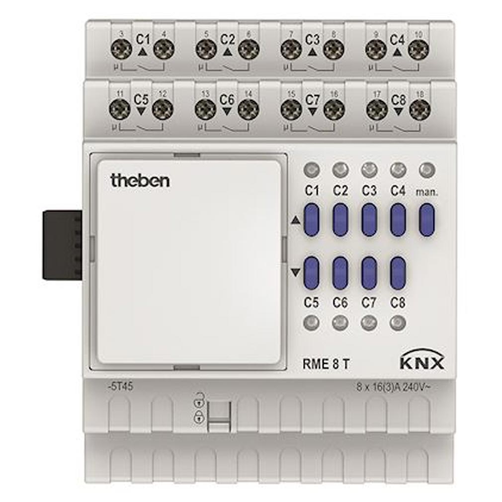 Theben - THB4930205 - THEBEN 4930205 - Module extension Actionneur commutation ou store RME 8 T