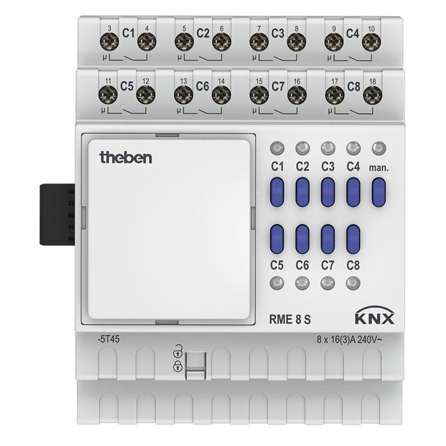 Theben - THB4930225 - MODULE D'EXTENSION 8 CONTACTS RME 8 S KNX