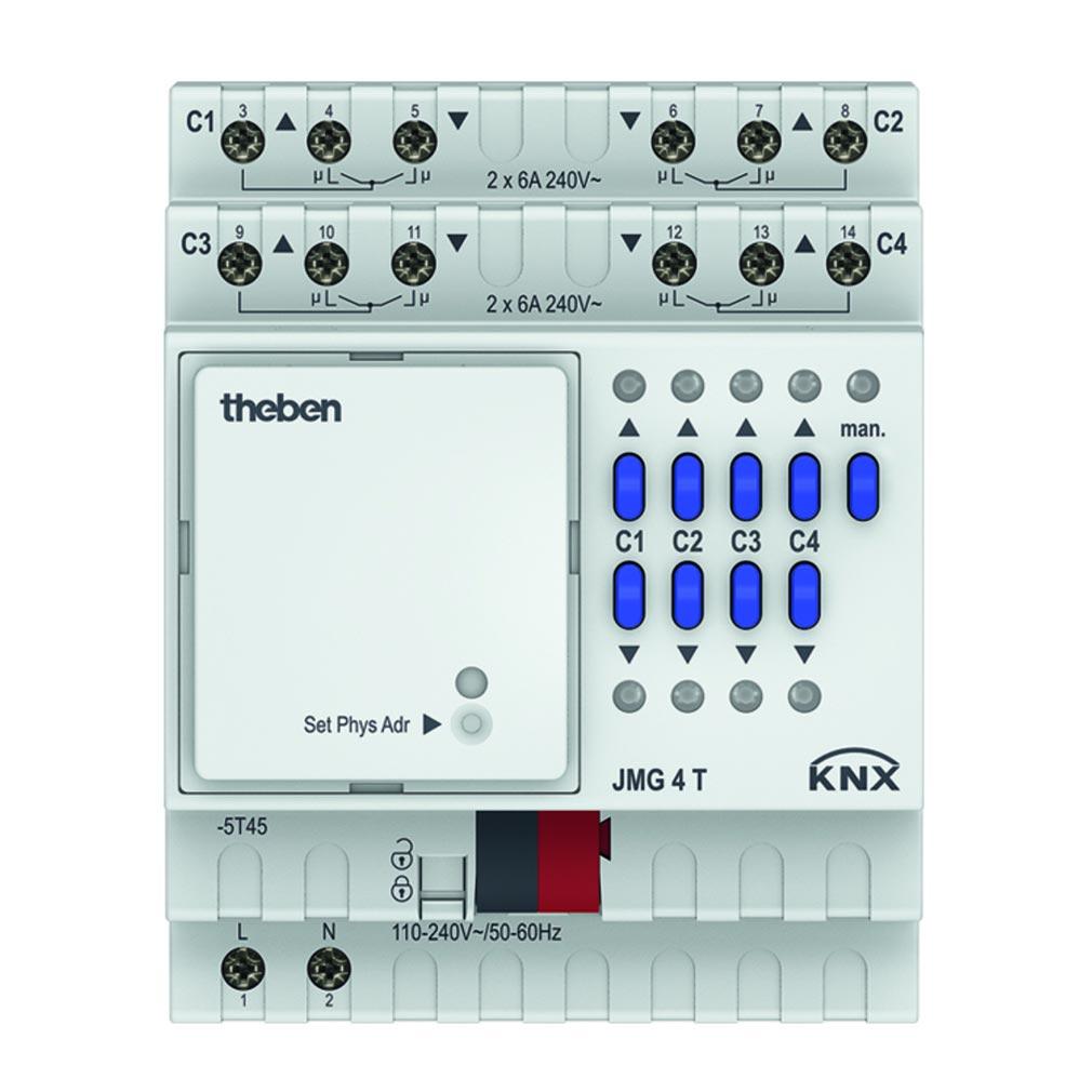 Theben - THB4930250 - ACTIONNEUR VOLETS 4 C JMG 4 T KNX