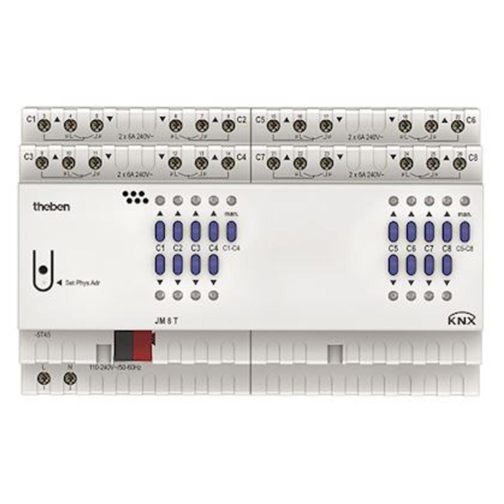 Theben - THB4940255 - THEBEN 4940255 - Actionneur volets 8 c JM 8 T KNX