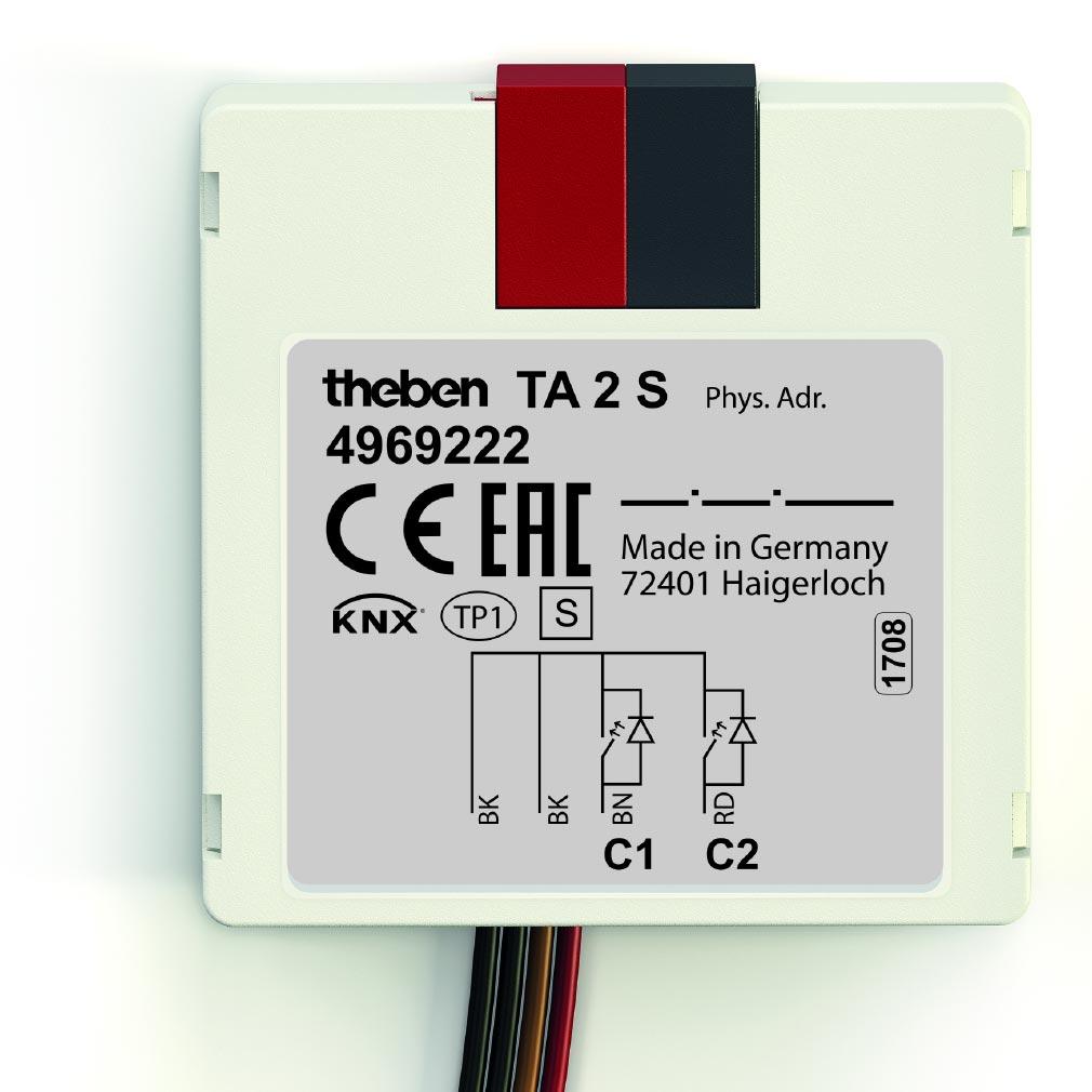 Theben - THB4969222 - MODULE ENCASTRE 2 ENTREESTA 2 S KNX