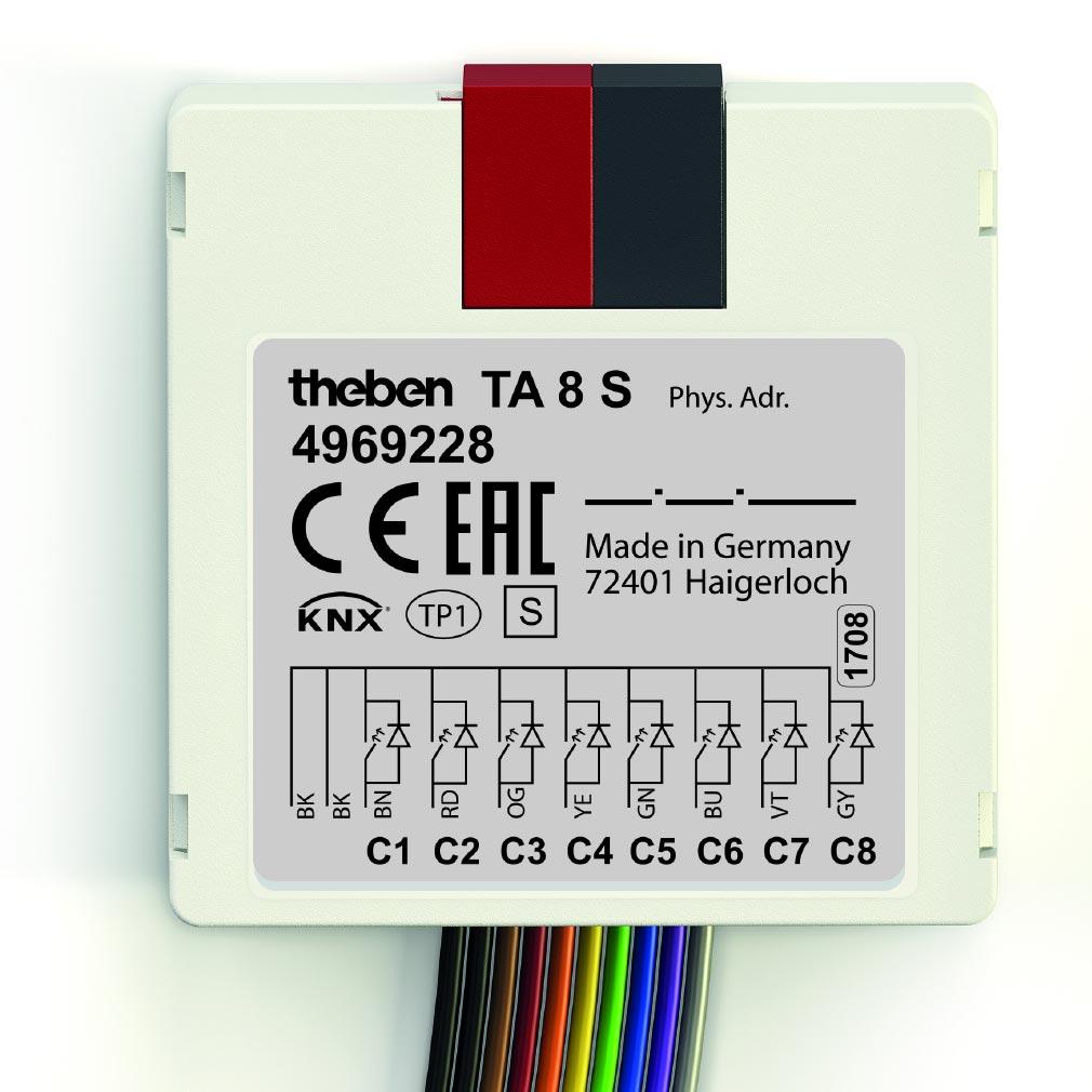 Theben - THB4969228 - MODULE ENCASTRE KNX 8 ENTREES
