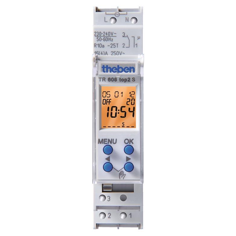Theben - THB6080101 - INTERRUPTEUR HORAIRE DIGITAL 1 MODULE 24H 7J 1 CINV 56 PAS