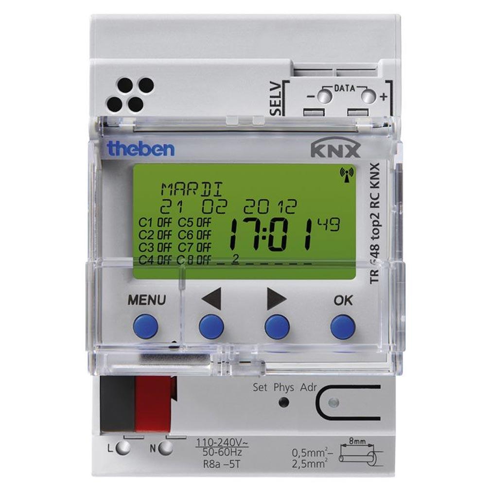 Theben - THB6489212 - INTERRUPTEUR HORAIRE DIGITAL ANNUEL 8 C DCF-GPS KNX