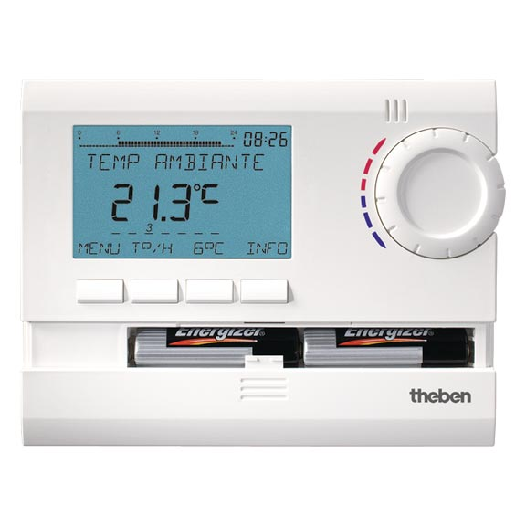 Theben - THB8119132 - THERMOSTAT D'AMBIANCEDIGITAL 3 PROGRAMMABLE 24H 7J PILES