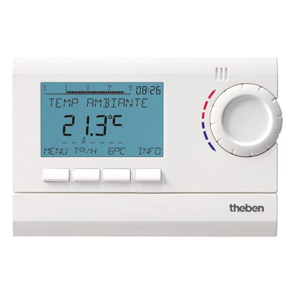 Theben - THB8120132 - THERMOSTAT D'AMBIANCEDIGITAL 3 PROGRAMMABLE 24H 7J 230V
