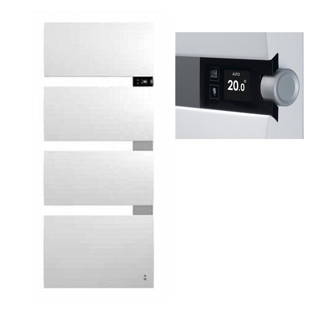 Thermor - EET490611 - THERMOR 490611 - Sèche serviettes Thermor Symphonik, Mât Droite Blanc Granit Alu