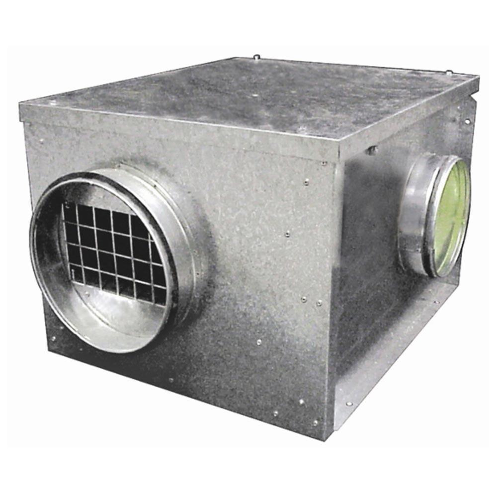 Unelvent - UNE237524 - Caisson d'extraction série CACB-N 50W - 500m3/h - Flux à 90° - Diam 200