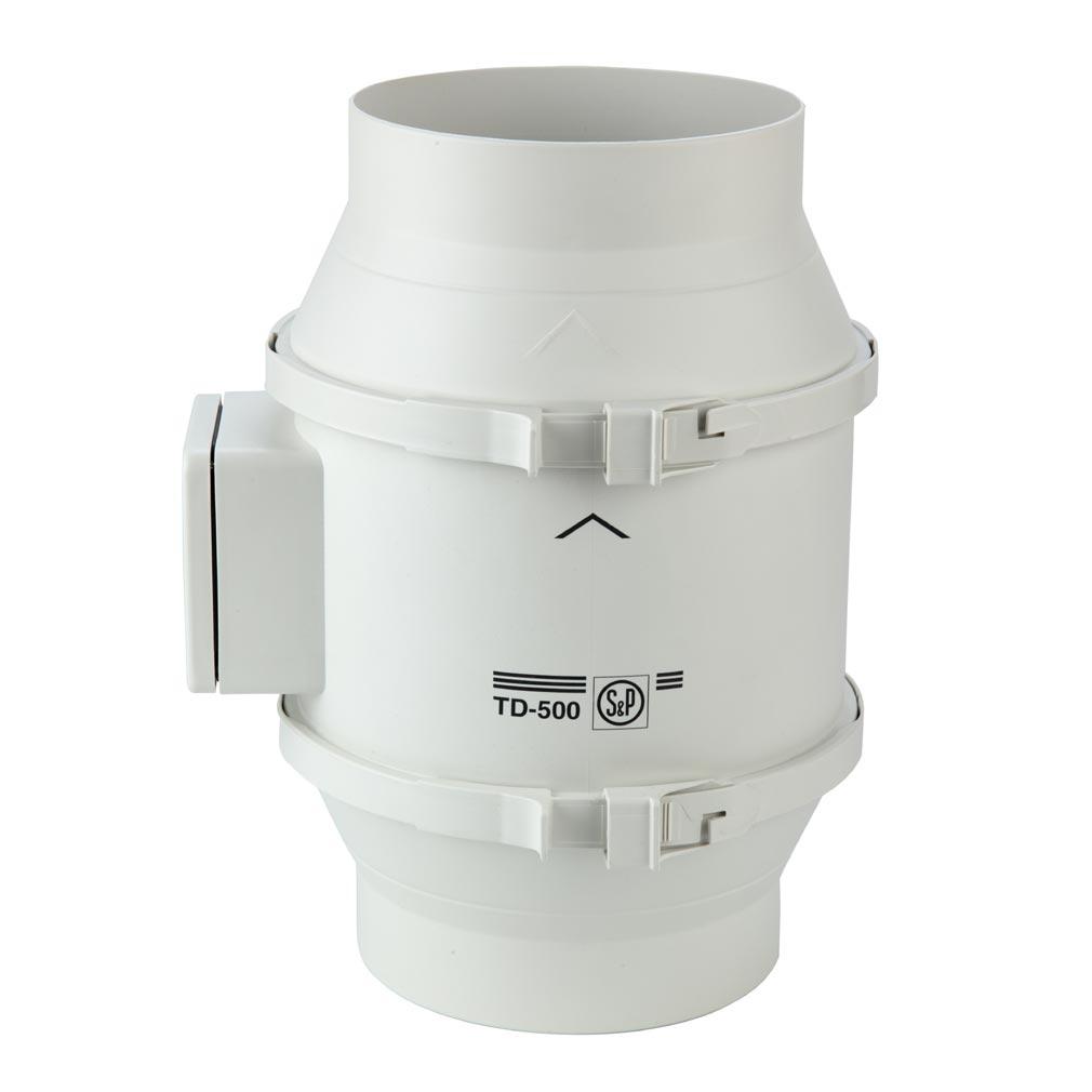 Unelvent - UNE250458 - UNELVENT 250458 - TD500/160 - Ventilateur de conduit, 390/560 m3/h, 3 vitesses, raccordement D 160 mm