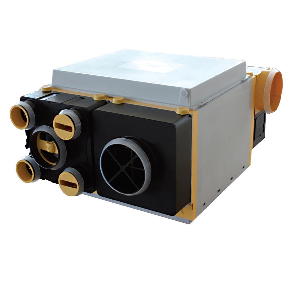 Unelvent - UNE603040 - UNELVENT 603040 - AKORBPHR - Caisson VMC double flux AKOR T3/7 haut rendement avec bypass
