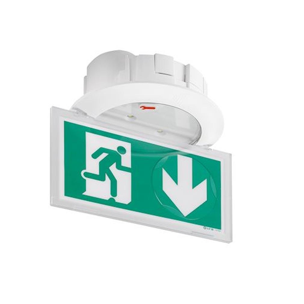 Ura - URA119118 - URA 119118 - Bloc autonome d'éclairage de sécurité BAES d'évacuation tout LEDs Practice - pose encastrée sans accessoire