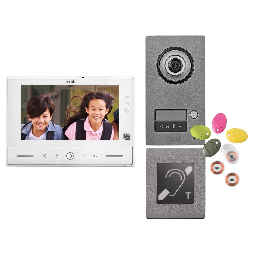 Urmet - URM172371ERP - URMET 172371ERP - Kit Note 2 ERP vidéo couleur 7'' mains-libres à mémoire 1 appel