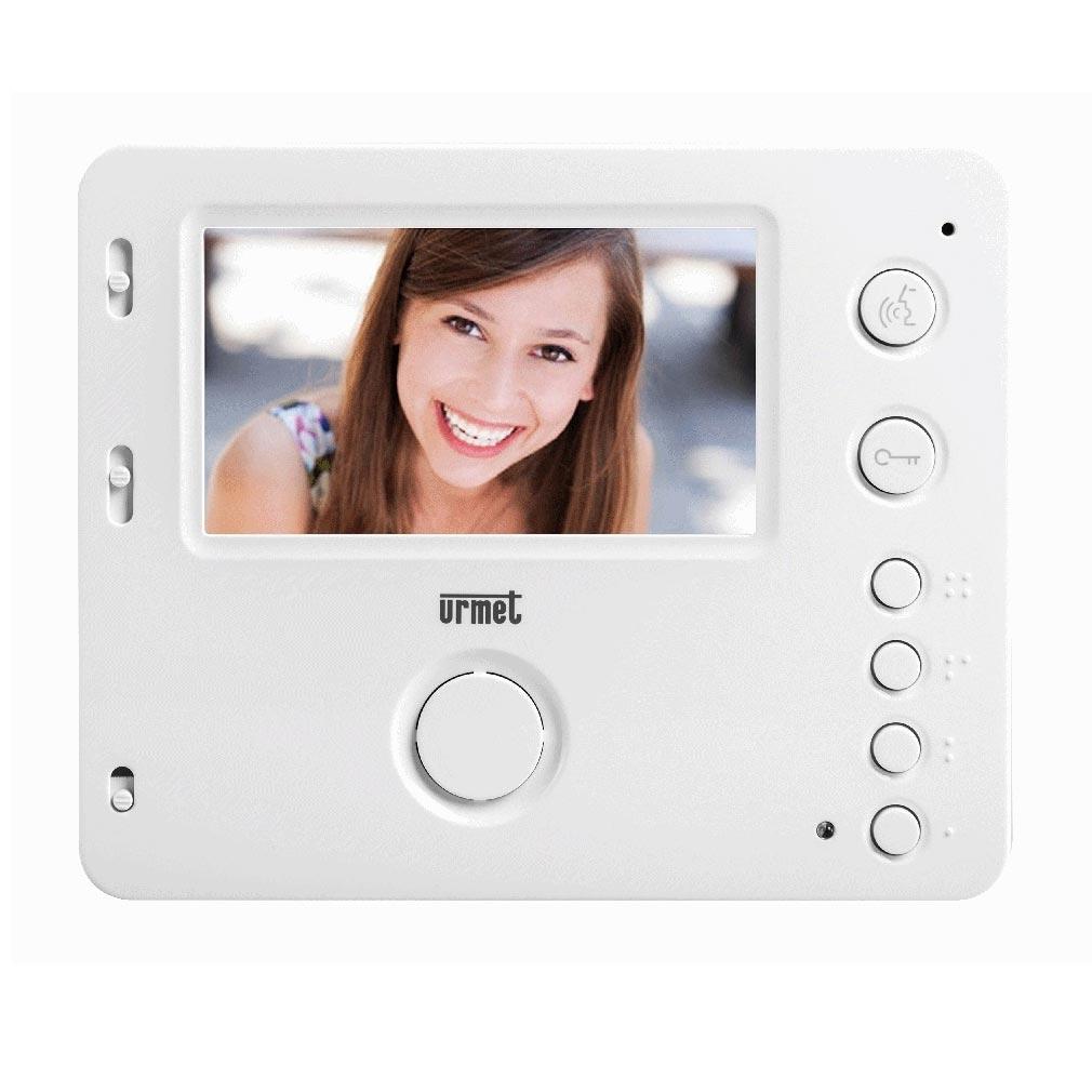 Urmet - URM175016 - URMET 175016 - Moniteur MIRO couleur mains-libres blanc