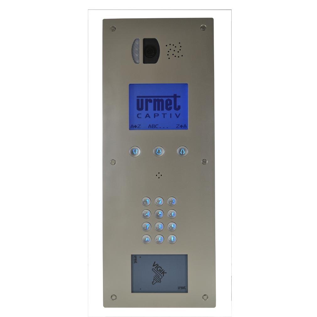 Urmet - URM98171110 - URMET 98171110 - Plaque vidéo à défilement  Lecteur plat VIGIK/Résident  Afficheur graphique