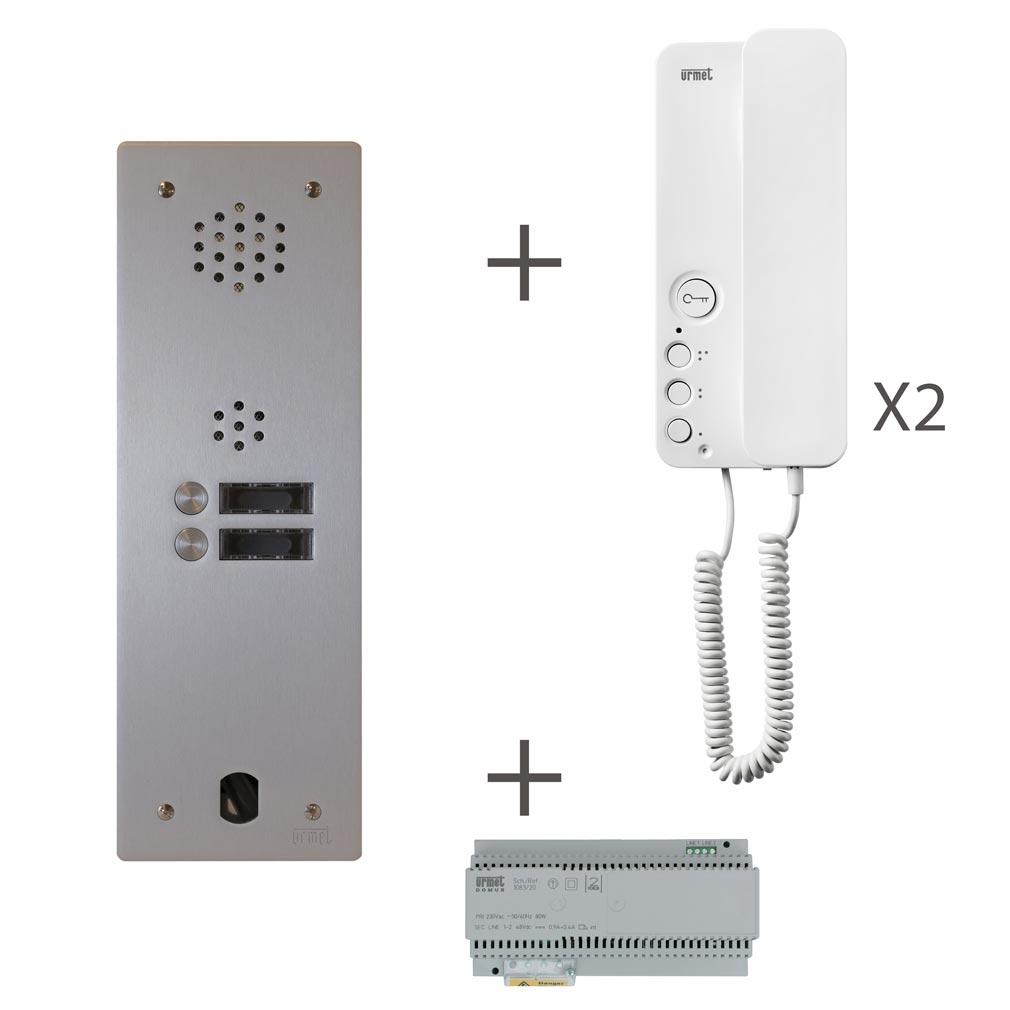 Urmet - URMKA83102 - URMET KA83102 - Kit audio 1 rangée de touches