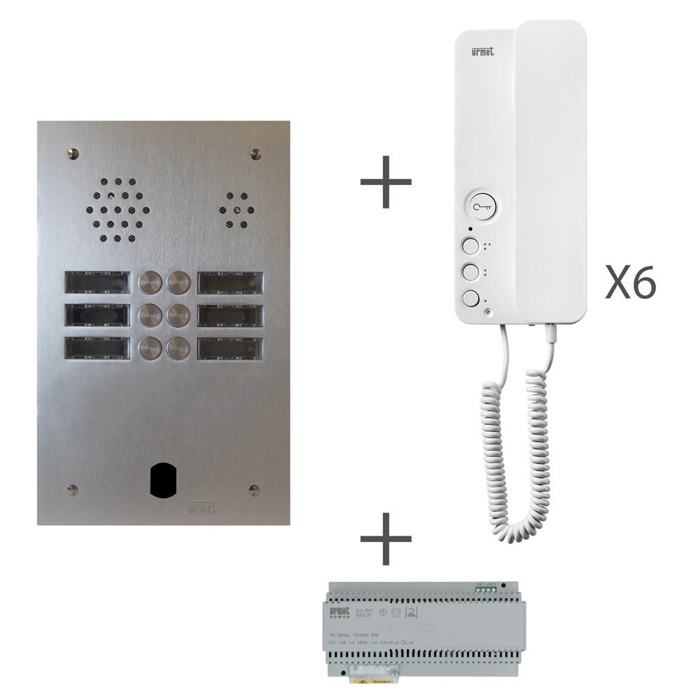 Urmet - URMKA83206 - URMET KA83206 - Kit audio 2 rangées de touches