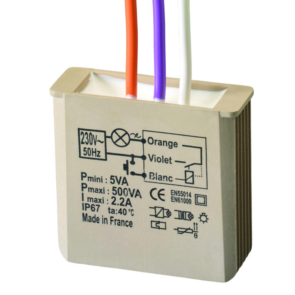 Yokis - YOS5454054 - YOKIS MTT500E - 5454054 - Télérupteur Temporisé Encastrable 500W