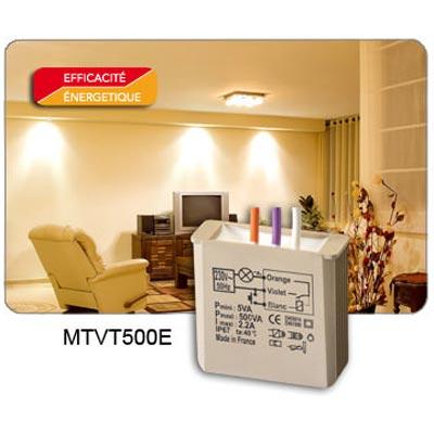 Yokis - YOS5454055 - YOKIS MTVT500E - 5454055 - Fonctionne avec toutes les marques d'appareillages. Compatible incandescent TBT transfo. ferro et électronique. S'installe