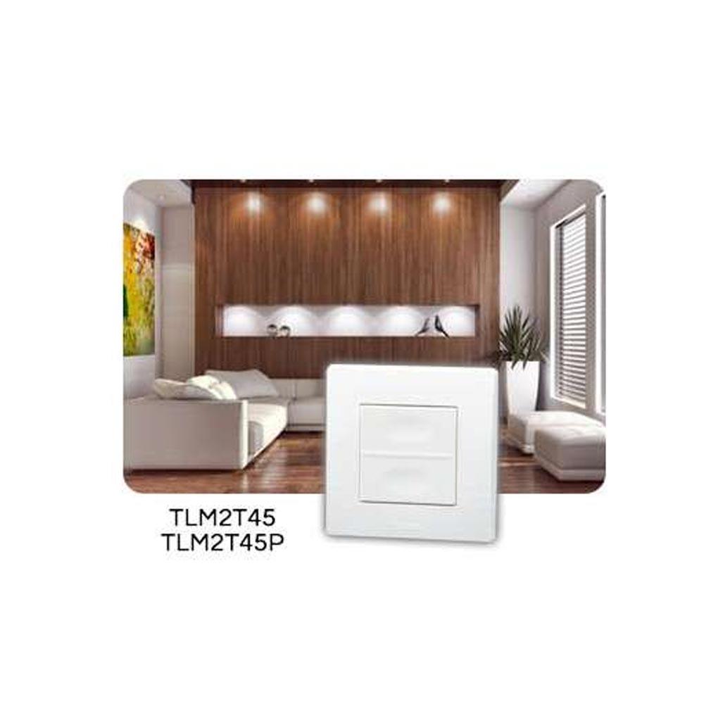 Yokis - YOS5454419 - YOKIS TLM2T45P - 5454419 -  Télécommande Murale 2 touches