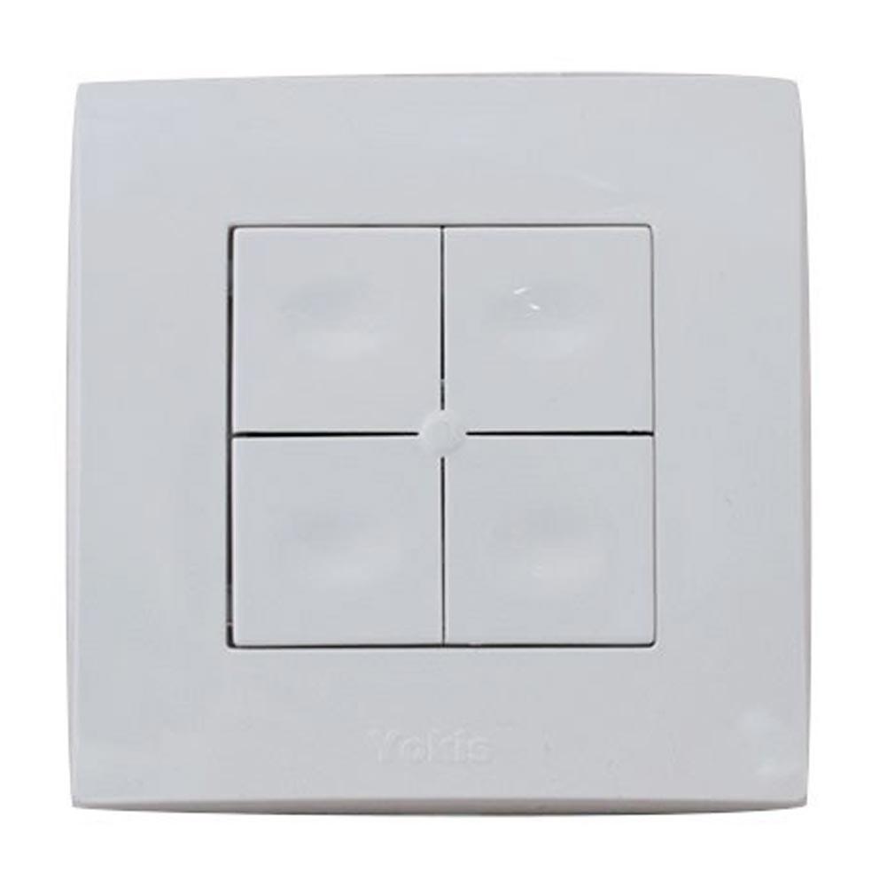 Yokis YOS5454421 - YOKIS TLM4T45P - 5454421 -  Télécommande Murale 4 touches