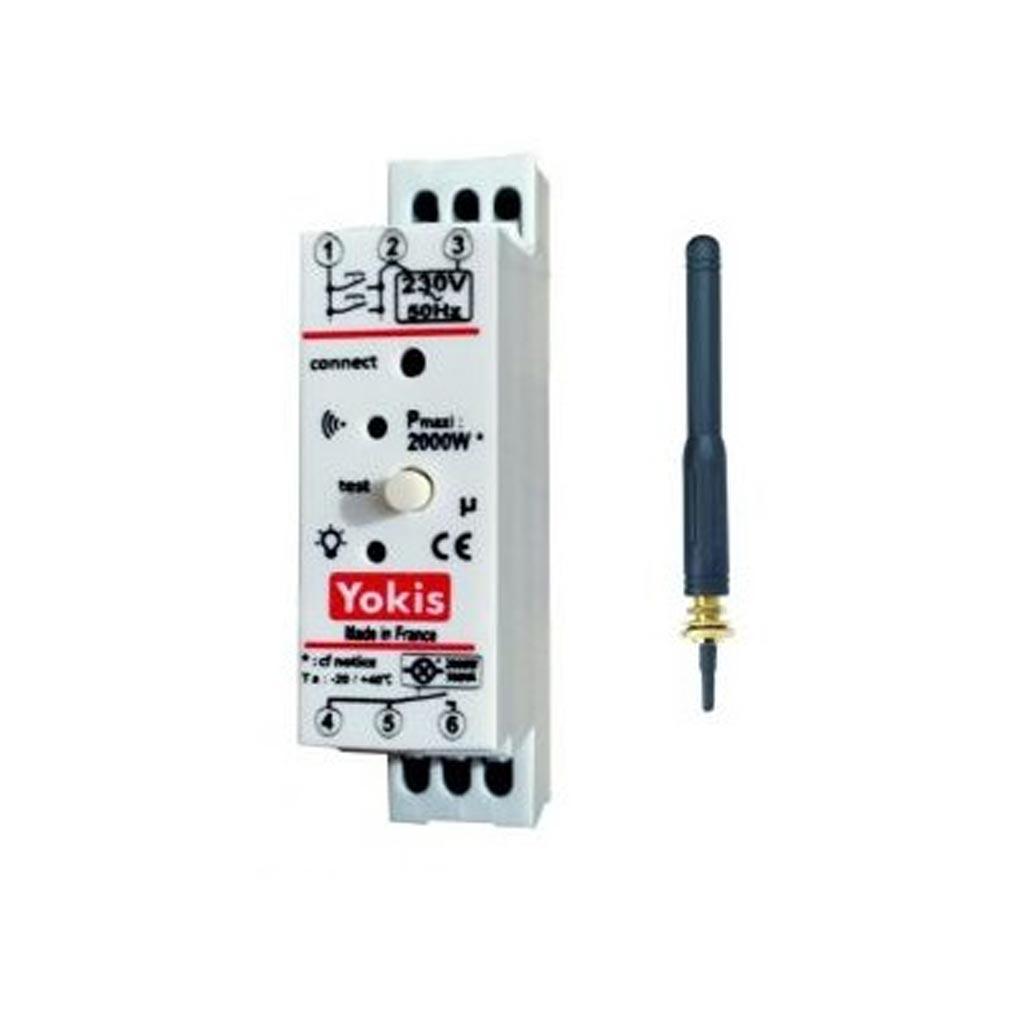 Yokis - YOS5454465 - YOKIS MTR2000MRPX - 5454465 - Télérupteur Temporisé Modulaire RADIO 2000W