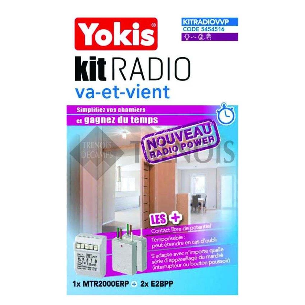 Yokis - YOS5454516 - YOKIS KITRADIOVVP - 5454516 - Kit Radio Va-et-Vient - Radio POWER