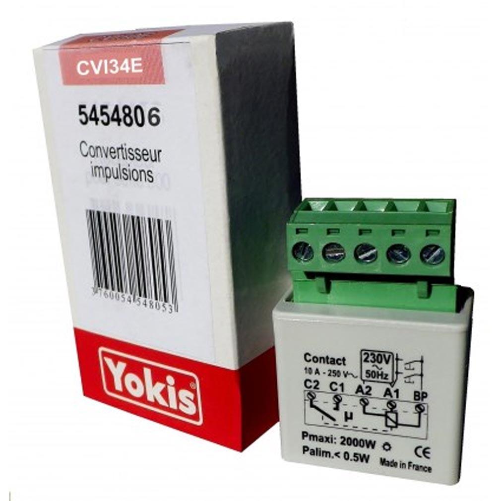 Yokis - YOS5454806 - YOKIS CVI34 - 5454806 - Convertisseur d'impulsions pour contact permanent